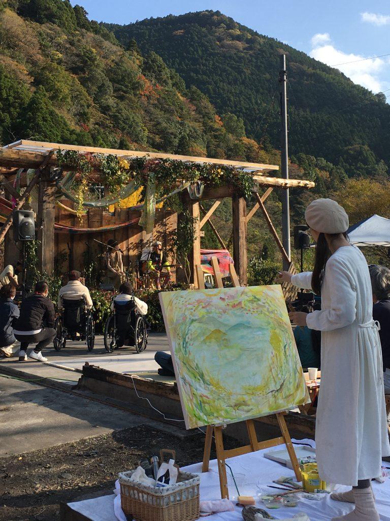 ゆるびく村 音楽フェス ライブペイント 藤枝 静岡 hiyori